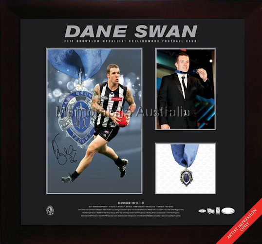 Dane Swan 2011 Brownlow Photo Piece Signed