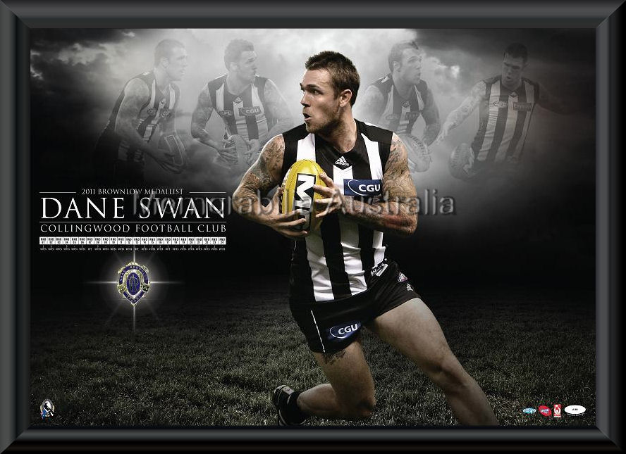 Dane Swan 2011 Brownlow Poster Framed