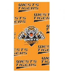 West Tigers Beach Towel