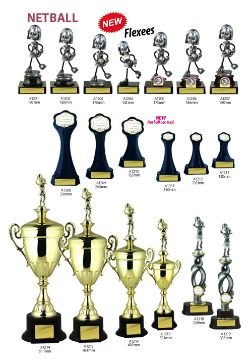 Netball Trophies 7