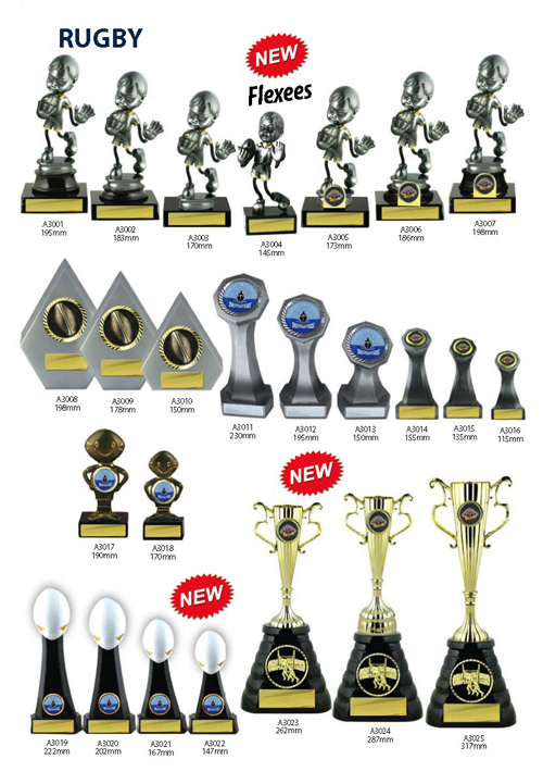 Rugby Trophies 7