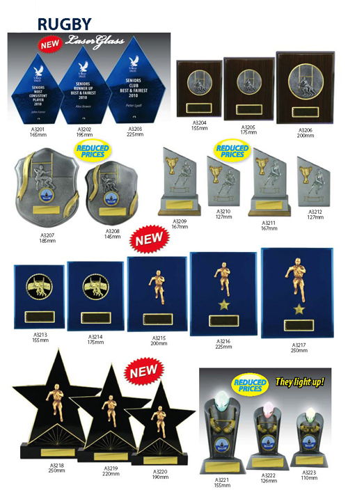 Rugby Trophies 9