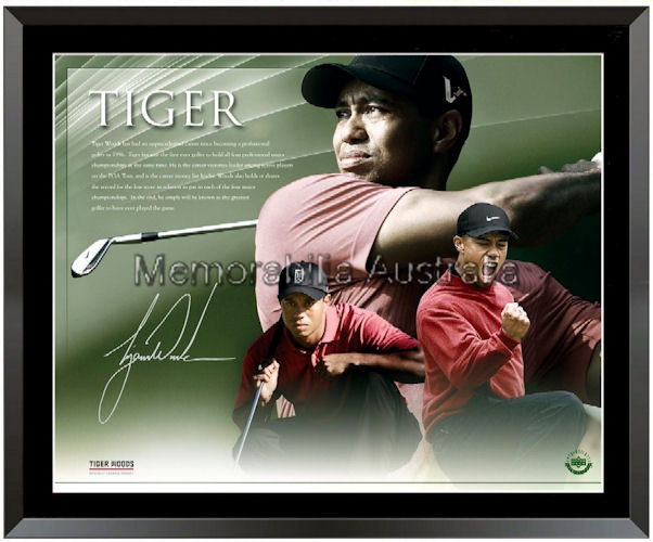 Tiger Woods Signed LE