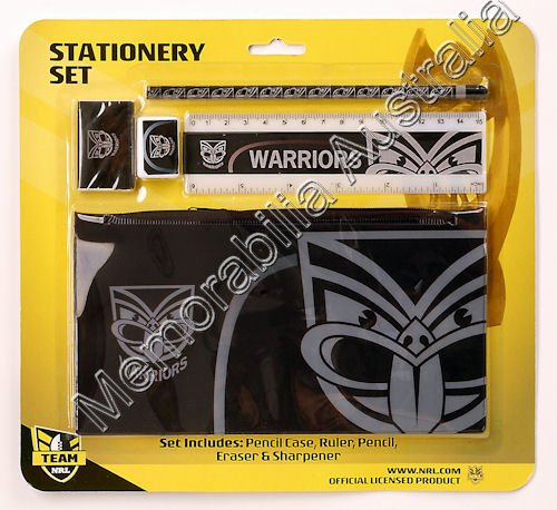 New Zealand Warriors NRL Stationery Set