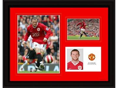 Wayne Rooney Framed Player Profile