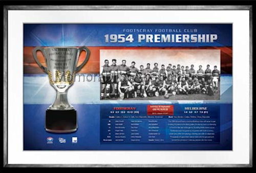 Bulldogs AFL Premiership History Framed