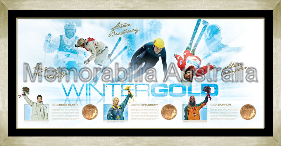 Winter Gold Signed Framed