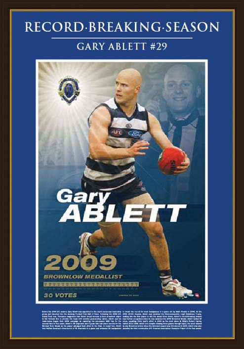 Ablett 2009 Brownlow Framed LE Print