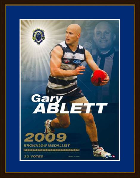 Ablett Brownlow 2009 Framed LE Print