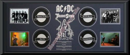 ACDC 4 Record Framed Printed Matt
