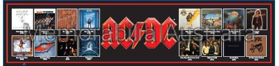ACDC Album Edition Bar Runner