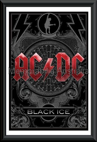 ACDC Black Ice Poster Framed