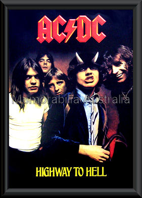 ACDC Highway To Hell Poster Framed