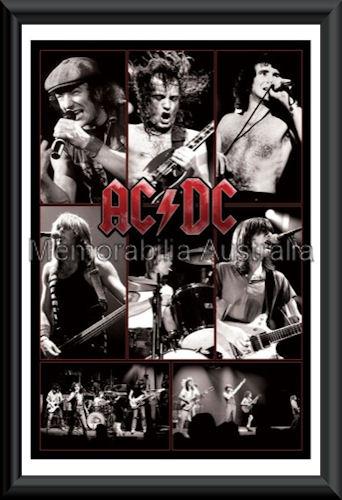 ACDC Live Poster Framed