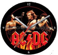 ACDC Trio Glass Clock