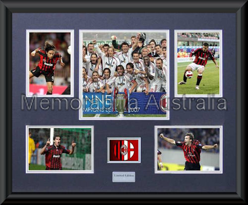 AC Milan LE Photo Montage Framed