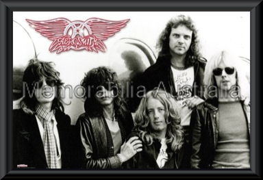 Aerosmith Band Poster Framed