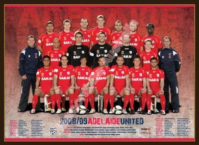 2008/09 Adelaide United Team Poster