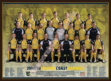 2008/09 Central Coast Mariners Team Poster
