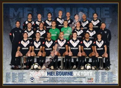 2008/09 Melbourne Victory Team Poster