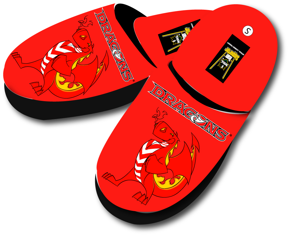St. George Illawarra Dragons Slippers - Large