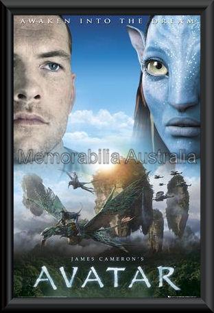 Avatar Awaken Poster Framed