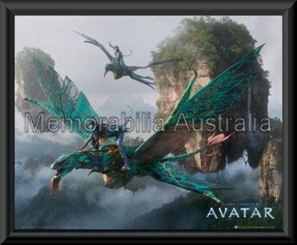 Avatar Flying Mini Poster Framed