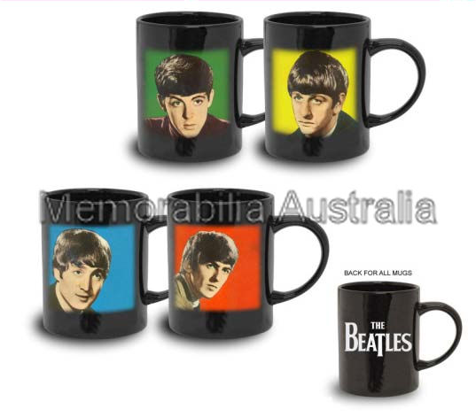 Beatles Set Of 4 Espresso Mugs