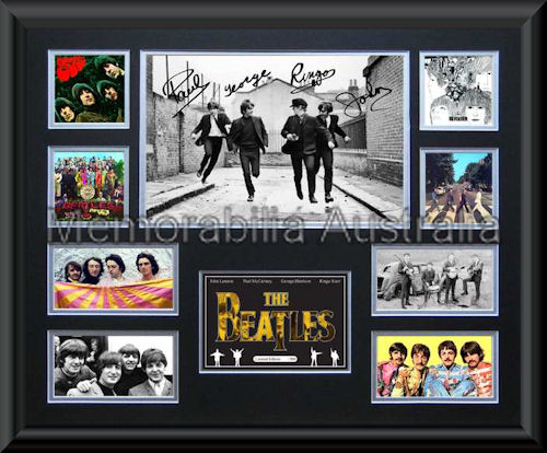 The Beatles LE Montage Framed