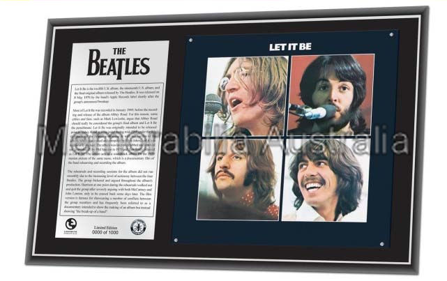 Beatles Let It Be L/E Plaque
