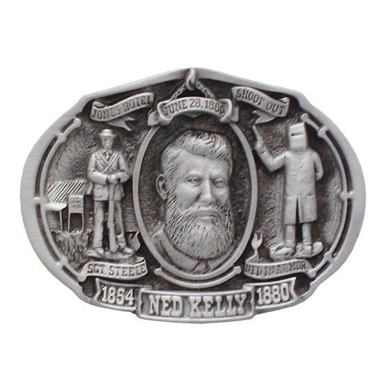 Ned Kelly oval Belt Buckle