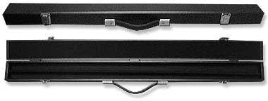 2 piece pool cue black hard carry case