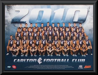 Carlton Blues 2010 AFL Team Framed