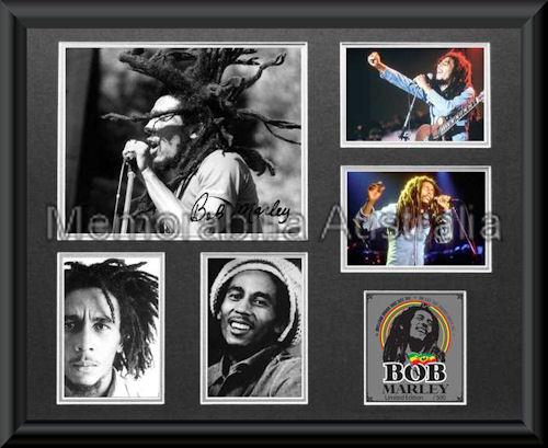 Bob Marley LE Montage Mat Framed