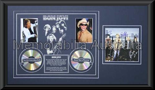 Bon Jovi LE Montage Mat Framed