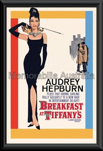 Breakfast At Tiffanys Poster Framed