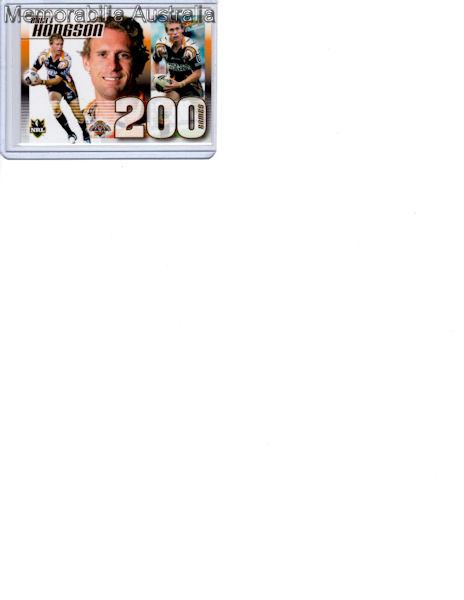 Brett Hodgson  NRL 200 Game