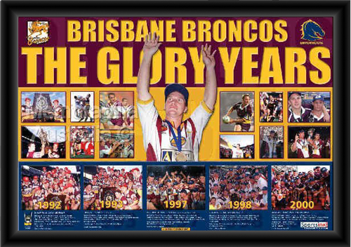 Brisbane Broncos Glory Years Framed