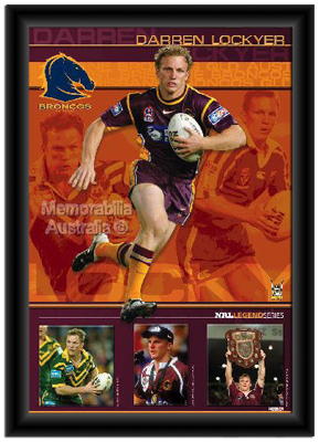Darren Lockyer Framed Print