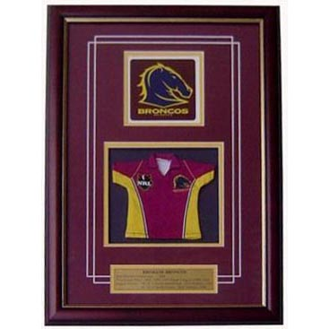 Broncos Framed Logo Mini Jersey
