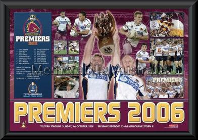 Brisbane Broncos 2006 Premiers Framed