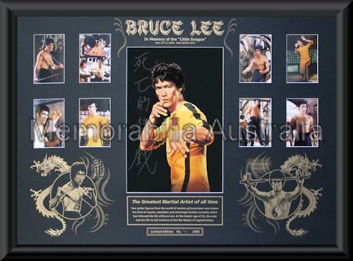 Bruce Lee Oversize LE Mat Framed