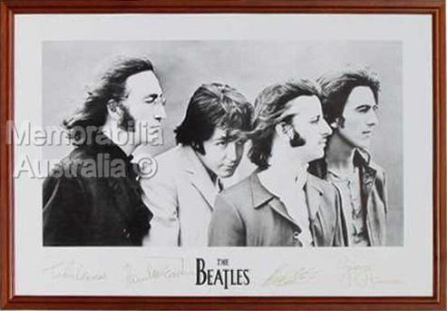 The Beatles Facsimile Signature Print