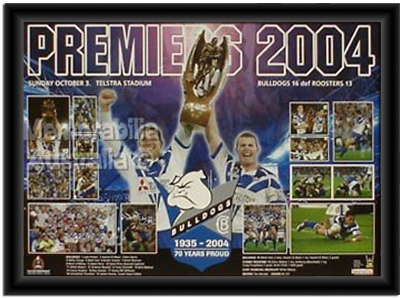 2004 Canterbury Bulldogs Premiership Print