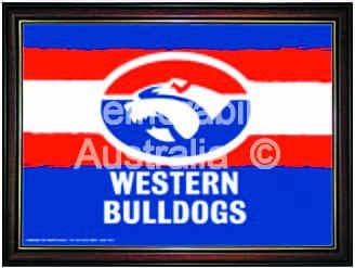Western Bulldogs Logo Framed Poster