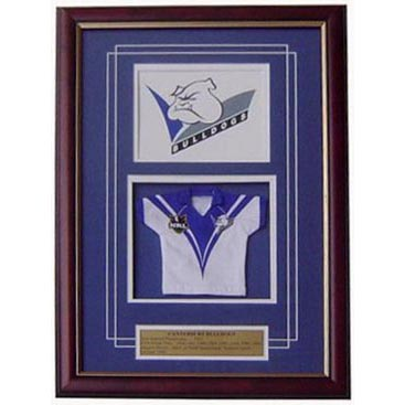 Canterbury Bulldogs Framed Logo Mini Jersey