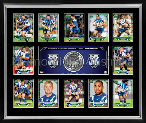 Bulldogs 2011 Medallion Print Framed