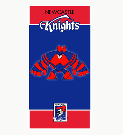 Newcastle Knights Mascot Beach Towel