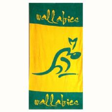 Wallabies Sports Towel - Logo