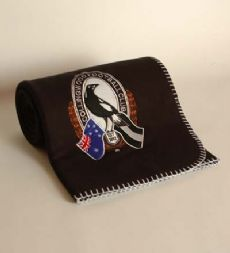 Collingwood Magpies Throw Rug